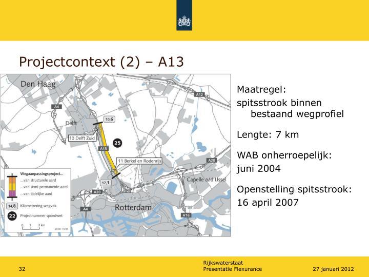 Projectcontext (2) – A13