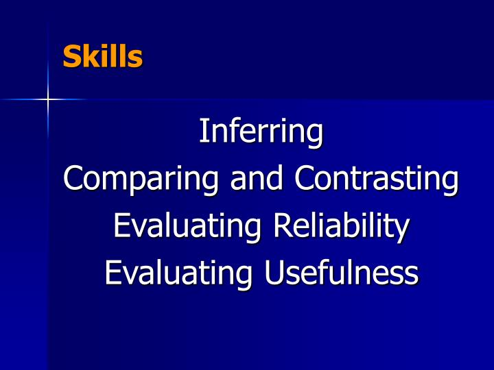 a comparison of reliability and usefulness