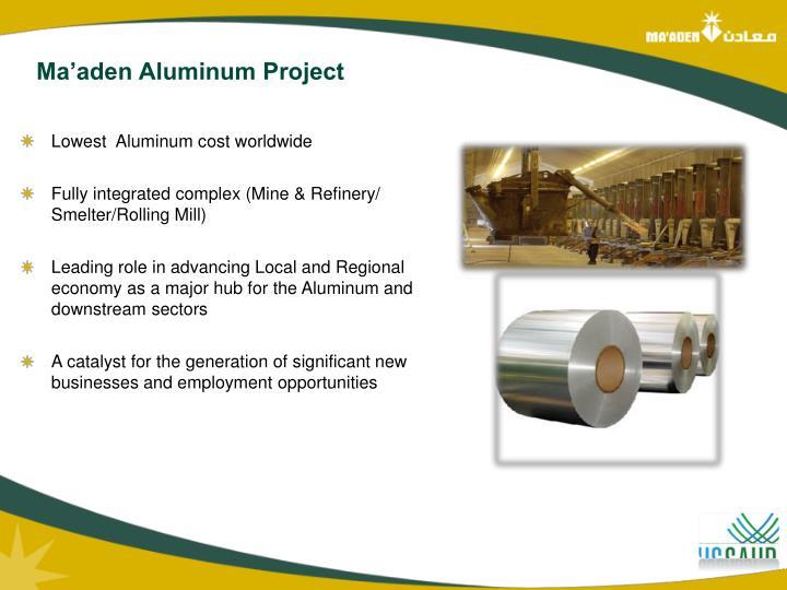 Ma'aden Aluminum Project
