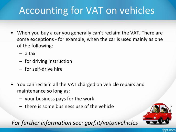 Accounting for VAT on