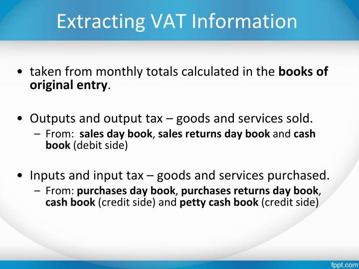 Extracting VAT Information