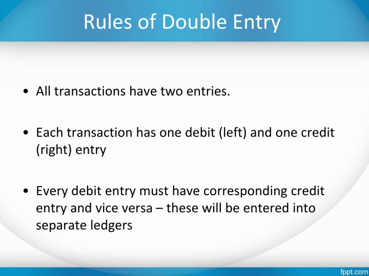 Rules of Double Entry