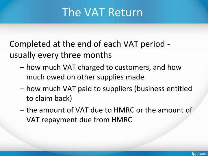The VAT Return
