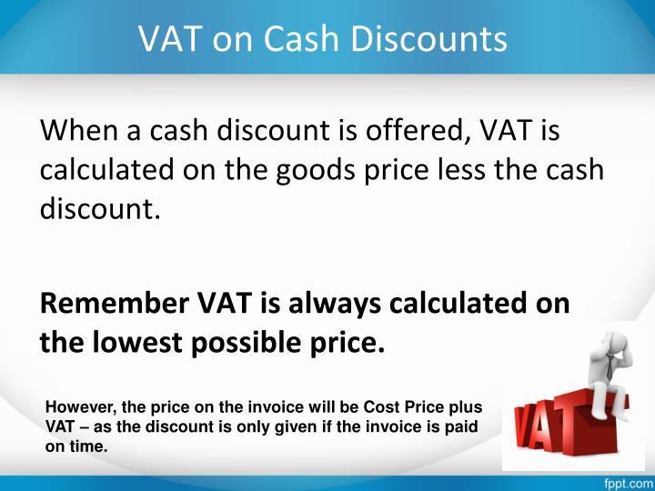VAT on Cash Discounts