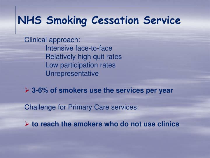 NHS Smoking Cessation Service