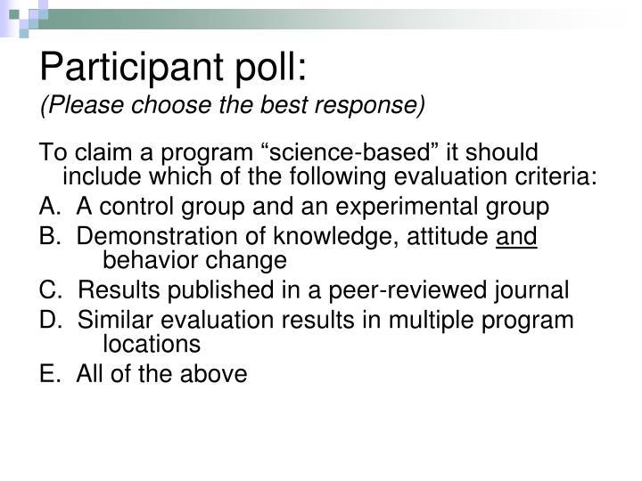 Participant poll: