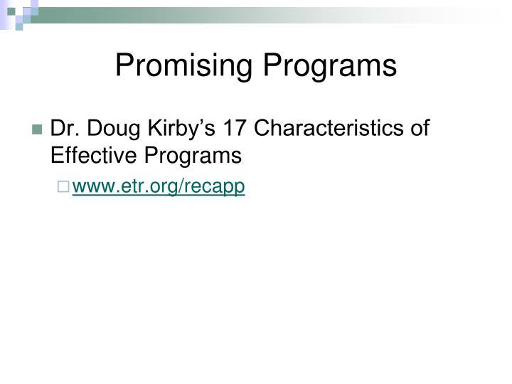 Promising Programs