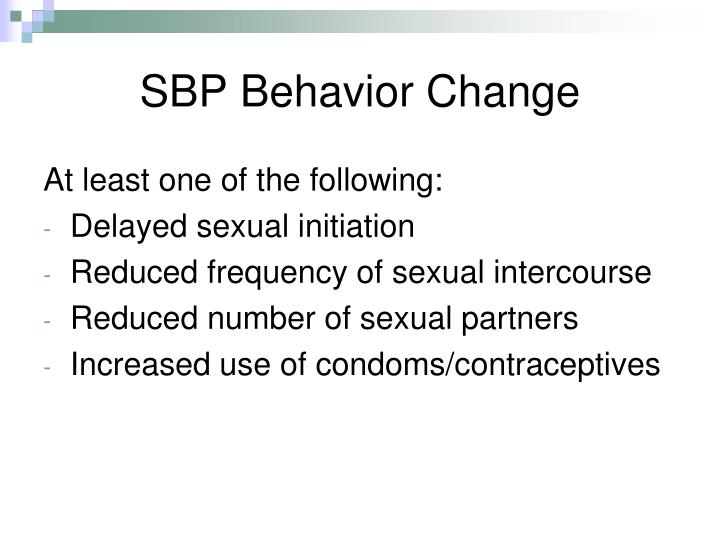 SBP Behavior Change