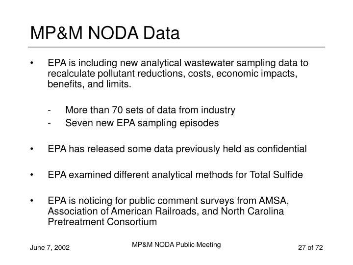 MP&M NODA Data