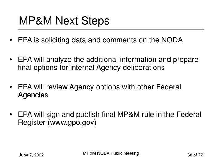 MP&M Next Steps