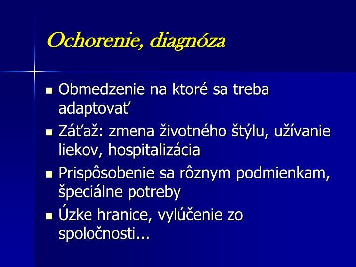 Ochorenie, diagnóza
