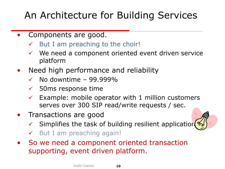 An Architecture for Building Services