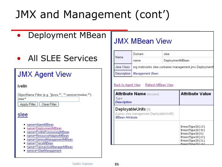 JMX and Management (cont')