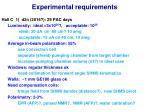 experimental requirements2