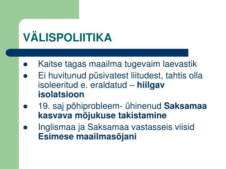 VÄLISPOLIITIKA