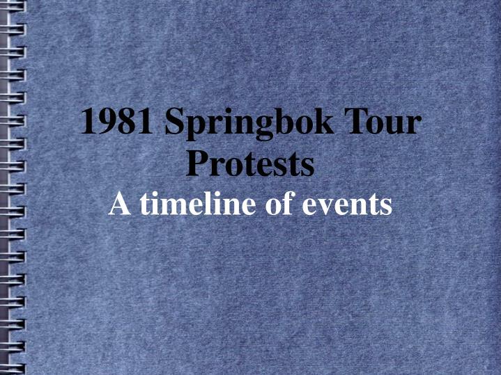 the 1981 springbok tour