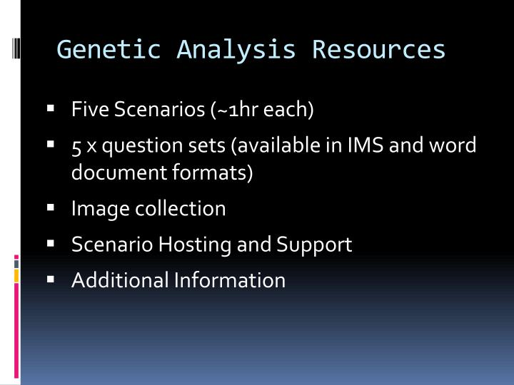 Genetic Analysis Resources