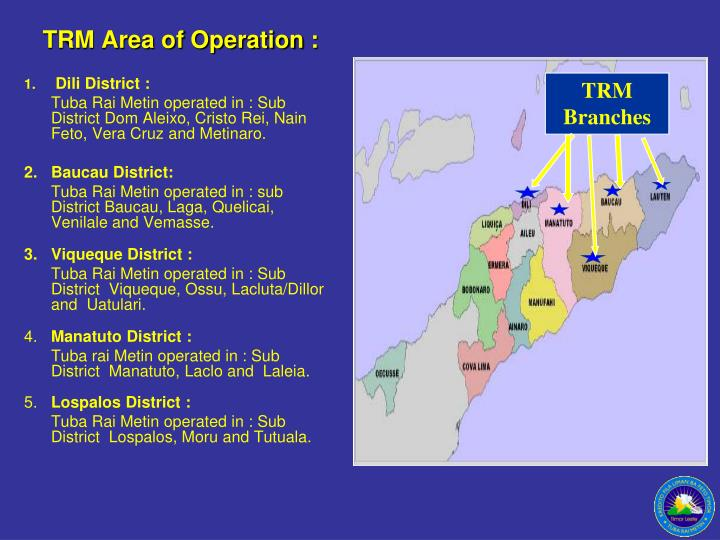 TRM Area of Operation :