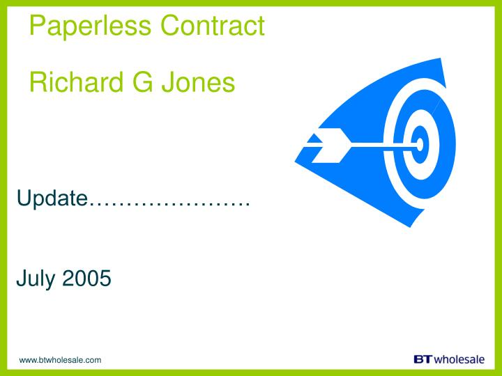 Paperless Contract