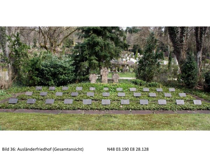Bild 36: Ausländerfriedhof (Gesamtansicht)N48 03.190 E8 28.128