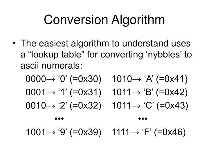 Conversion Algorithm
