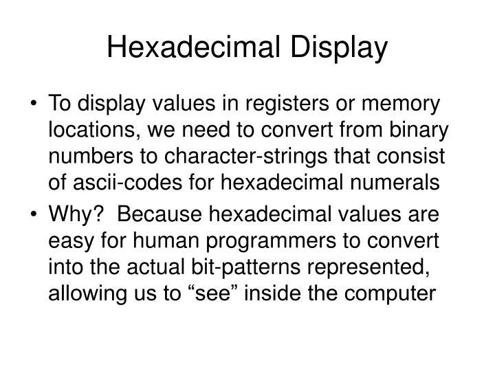 Hexadecimal Display