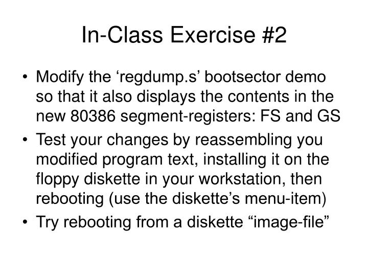 In-Class Exercise #2