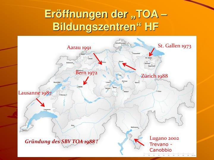 """Eröffnungen der """"TOA – Bildungszentren"""" HF"""