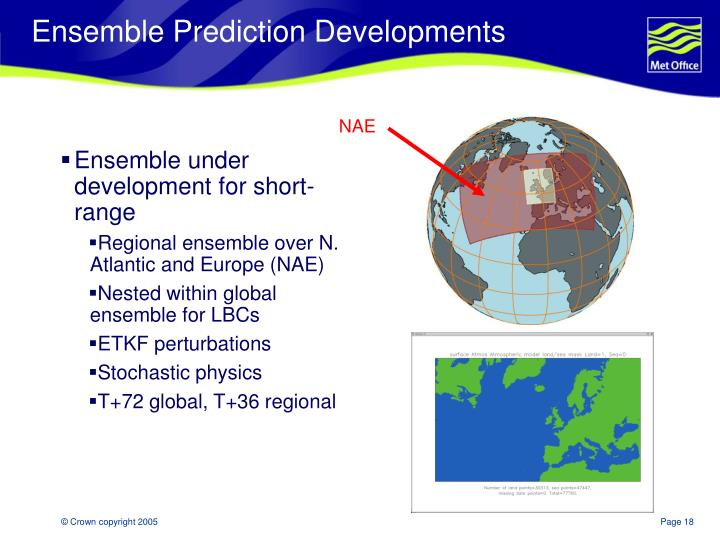 Ensemble Prediction Developments