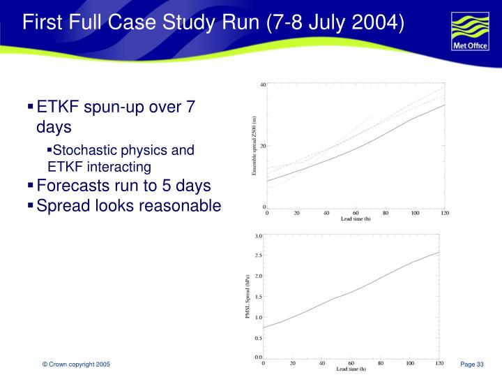 First Full Case Study Run (7-8 July 2004)