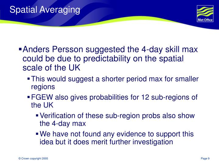 Spatial Averaging