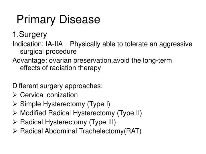 Primary Disease