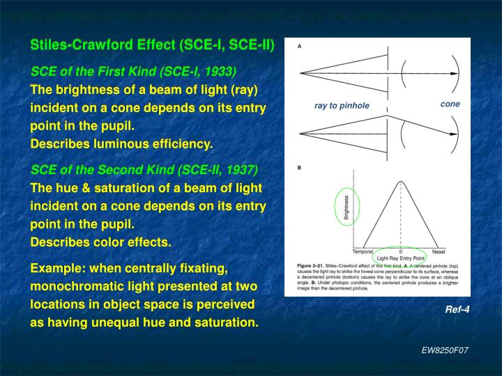 Stiles-Crawford Effect (SCE-I, SCE-II)