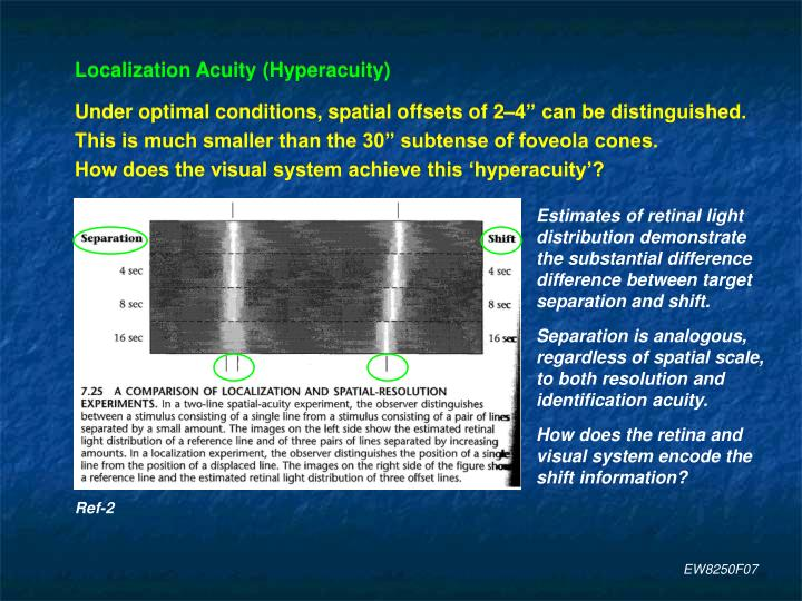 Estimates of retinal light