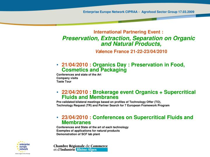 International Partnering Event :