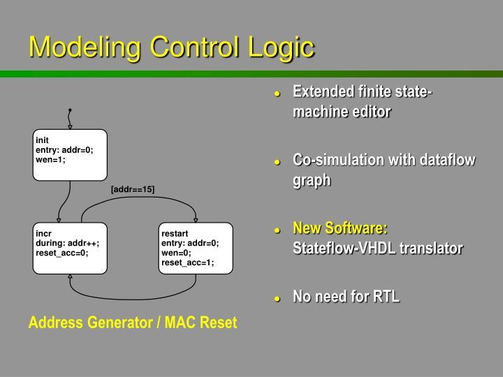 Modeling Control Logic