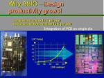 why asic design productivity grows