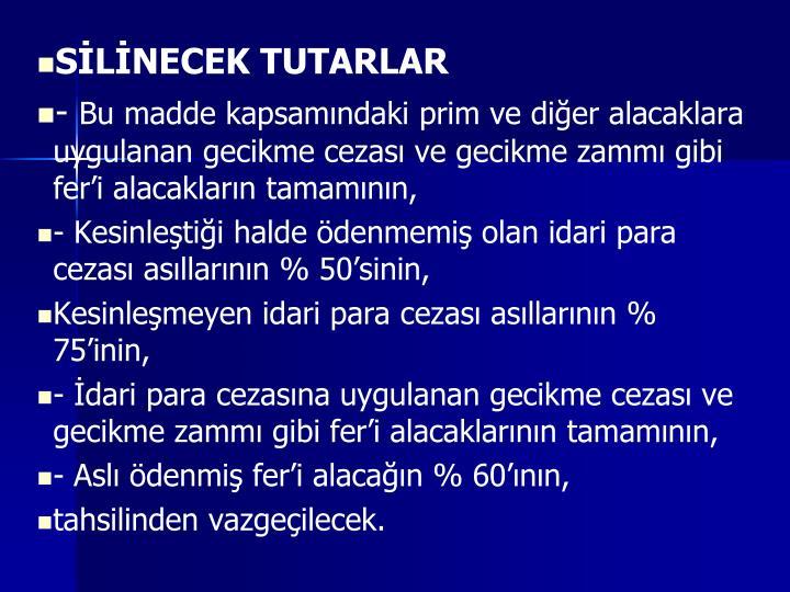 SLNECEK TUTARLAR
