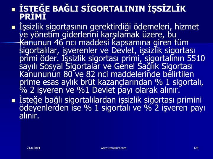 STEE BALI SGORTALININ SZLK PRM