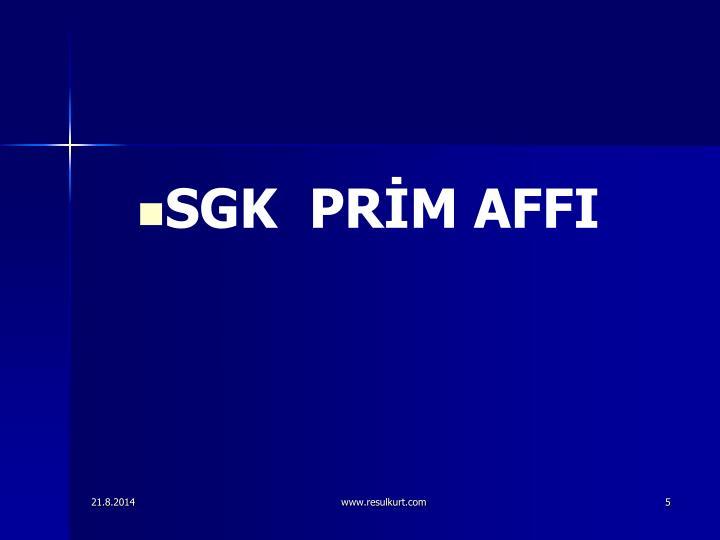 SGK  PRM AFFI