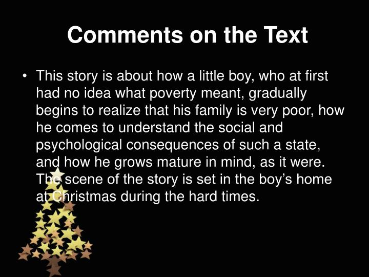 Comments on the Text