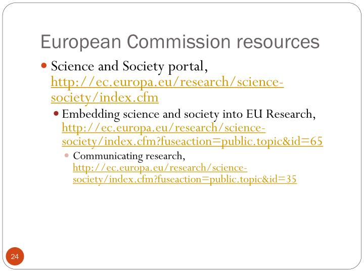 European Commission resources