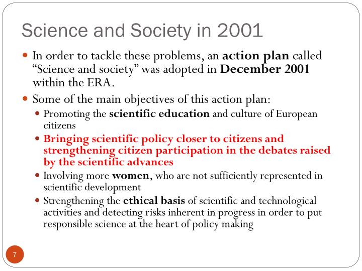 Science and Society in 2001