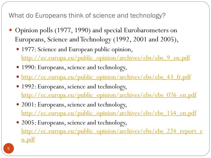 What do Europeans think of science and technology?
