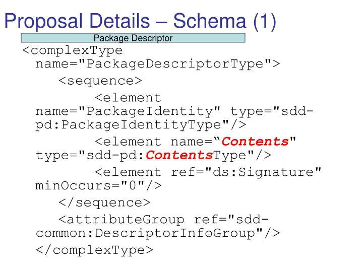 Proposal Details – Schema (1)