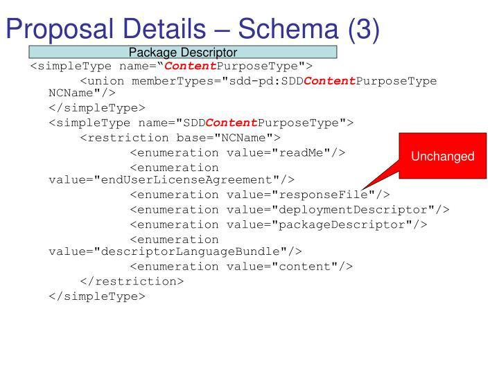 Proposal Details – Schema (3)