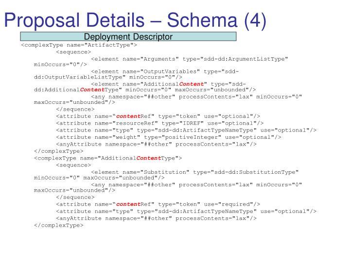 Proposal Details – Schema (4)
