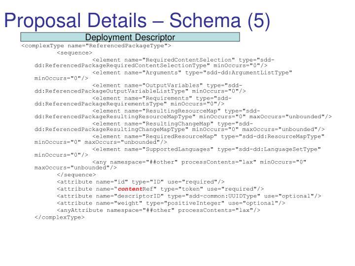 Proposal Details – Schema (5)