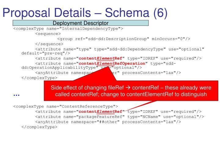 Proposal Details – Schema (6)