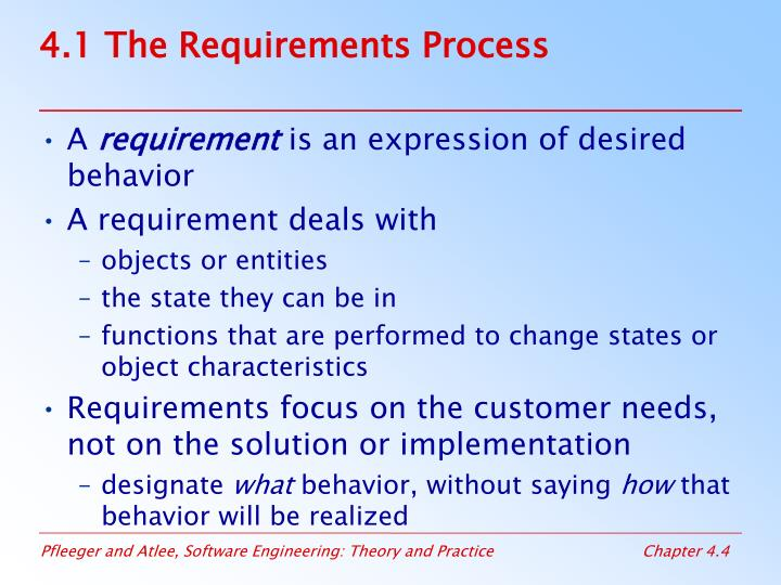 4.1 The Requirements Process